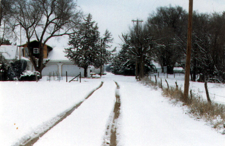 Snowy driveway 2001